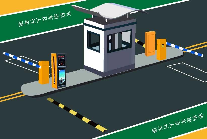 智能IC卡停车场管理系统效果图