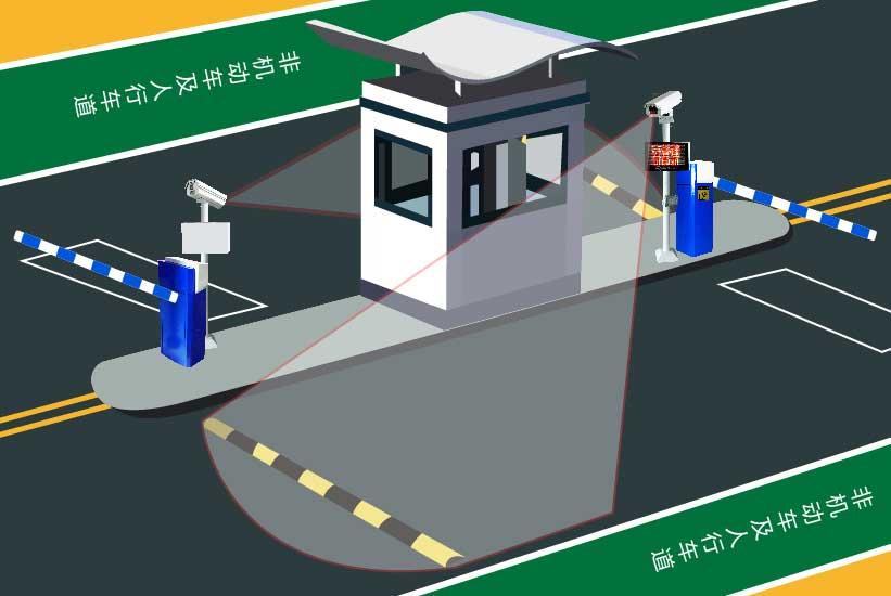 车牌识别停车管理系统无线版效果图